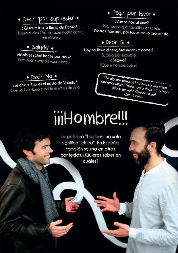 Spanish idioms, HOMBRE 1