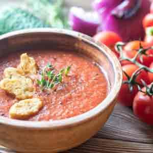 Clase de cocina. Gazpacho andaluz.